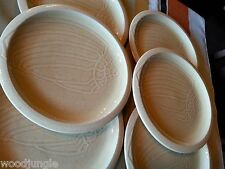 6 pc FRANCISCAN WARE USA SEA SCULPTURES THE CONCH SHELL DINNER PLATES SAND