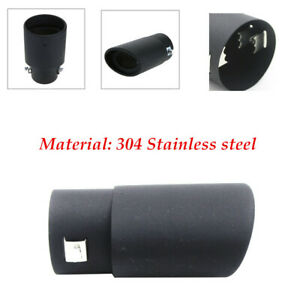 Black 63mm Car Exhaust Pipe Inlet Tips Muffler Pipe Tail Throat Screw mounting