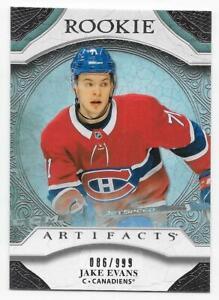 20/21 UD ARTIFACTS ROOKIES RC Hockey /999 (#161-180) U-Pick From List