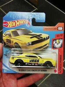 Hot wheels '18 DODGE CHALLENGER SRT DEMON short card 2020