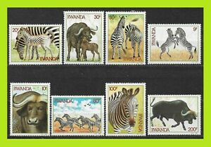 Rwanda 1984 Zebras and Buffalos - Complet Series 8 Stamps - MNH