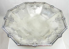 Vintage International Sterling Silver Compote Hollowware Octagon Barbour Silver
