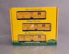 S-Helper Service 00683 S Scale Burlington Route BREX Reefer Car Set (Hi-Rail) EX