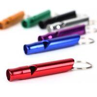 2x. Metall Überleben-Pfeife Schlüsselring Survival Whistle Emergency Camping