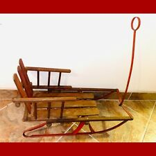 Antique Wooden Vintage BABY Child's Snow Sleigh Christmas Sled