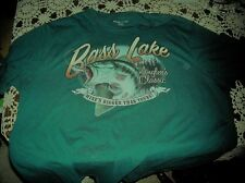 Bass Lake Anglers Classic Tee Shirt Size XL  Bass Mine's Bigger Than Yours used