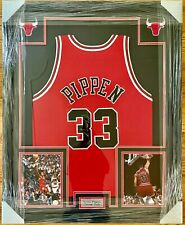 Scottie Pippen Autographed Framed Jersey With Steiner COA