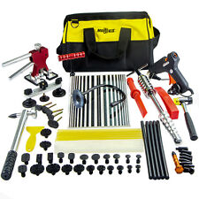US PDR Paintless Hail Dent Puller Lifter Remove Hammer Tool Repair Board Kit+Bag