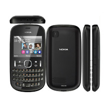 Original Nokia Asha 200 2MP Dual SIM 2G GSM 900 1800 QWERTY Keyboard Smartphone