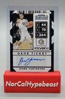 2020 Panini Contenders Draft Picks Basketball Omer Yurtseven Game Ticket #100