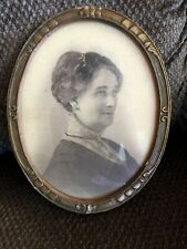 "New ListingAntique Oval Wood Frame With Picture - 7-1/2"" x 9-1/2"""