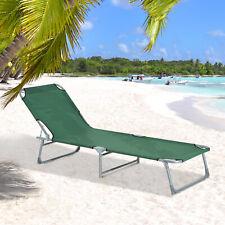Outsunny Tumbona Plegable para Playa - Verde (ESA20-028GN0731)