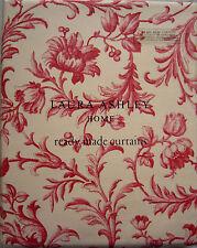 Laura Ashley Ironwork Scroll Cranberry Pencil Pleat Curtains 65cm X 52cm