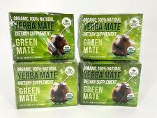 Kiss Me Organics Yerba Mate Green Mate Dietary Supplement 4 Packs - 80 Teabags