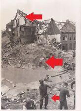 1918, Presse PK Foto Belgien bei Awans Zerstörungen tolle Aufnahme !