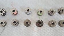 12 VTG. metal  Sewing Machine BOBBINS