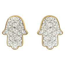 Swarovski Hamsa Hand Stud Earrings