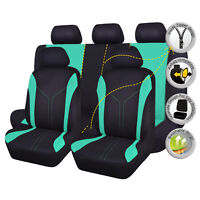 New Car Seat Covers set Universal Breathable washable mint green Polyester