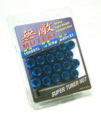 MUTEKI WHEEL LOCK LUG NUT M12x1.25 BLUE OPEN END SPLINE 31885U