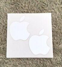 "Original Genuine OEM White Apple Logo 3"" Decal 2 Stickers - iPhone Macbook iPad"