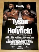 MIKE TYSON vs. EVANDER HOLYFIELD ORIGINAL FIGHT POSTER 1996 VINTAGE RARE
