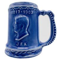 Rare JFK. 1964 Memorabilia New York World's Fair HALL OF EDUCATION Blue Mug VTG.