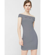 BNWOT MANGO STRIPES BARDOT DRESS