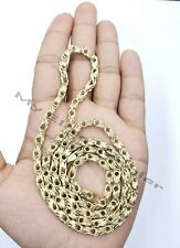 10k Yellow Gold Chino Byzantine Box Chain Men's Necklace 24 Inch REAL GOLD ,Male