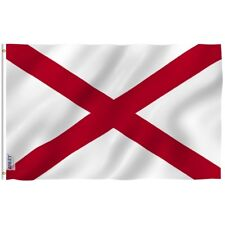 Anley Fly Breeze 3x5 Foot Alabama State Polyester Flag Alabama Al Flags 3 X 5 Ft