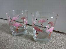 Flamingo Drinking Glass Tumblers