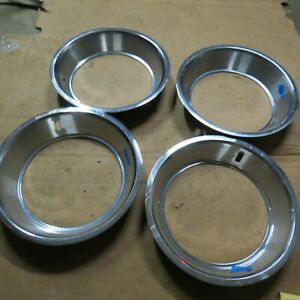 1968-72 Ford Mustang 14 inch beauty rings trim rings 2 1/2 deep set of 4