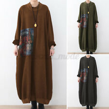 Women Full Sleeve Jumper Pullover Long Dress Winter Sweater Sweatshirt Dress NEW
