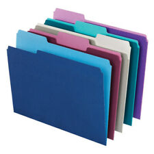 Office Depot Top Tab Color File Folders, 1/3 Cut, Letter Size, 100-Pack