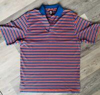 FootJoy FJ Size XL Red & Blue Poly Spandex Golf Polo Shirt - NWOT - New