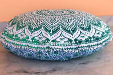 Large Round Floor Pillows Case Indian Mandala Ottoman Meditation Floor Pillows