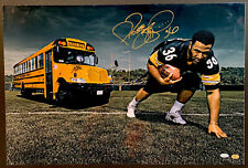 Jerome Bettis Signed Pulling Bus 16x24 Photo Autographed Rare Photo Holo Steiner
