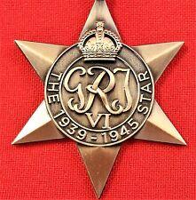 **WW2 THE 1939/45 STAR MEDAL RIBBON REPLICA MEDAL MOUNTING ANZAC