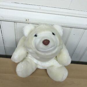 "Vintage 1980~GUND SNUFFLES ~ White Polar Bear Stuffed Plush Soft 10"""