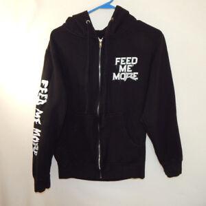 Ryback Feed Me More WWE WWF Wrestling Zip Up Hoodie Sweatshirt Size Small S