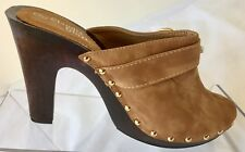 Claudia Ghizzani Ladies Tan Mule Clogs Size 6 UK 39 EU