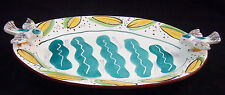 Vintage 1980s John Paige & David Thorbeck Memphis Studio Pottery Platter Birds