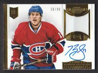 2013-14 Dominion Patch Autograph #AP-GA Brendan Gallagher Auto 26/99 Canadiens