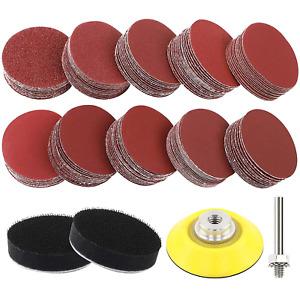 Coceca 180pcs 2 Inches Sanding Discs Pad Kit for Drill Sander, Drill Sanding Att