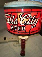 Vintage Falls City Beer Sign Sconce Redtop Iroquois Jax LoneStar Piels Sterling