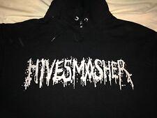 Rare HIVESMASHER Death Metal Hardcore Punk Rock Hoodie (L) Dillenger Escape