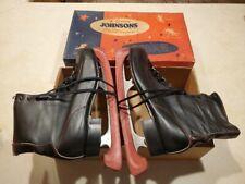 1950's Black Leather Nestor Johnsons Men's Ice Skates Size 12 in Box  Decorative