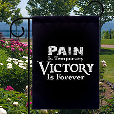 New listing Pain Temporary Victory Forever New Small Garden Yard Banner Decor Gifts Events