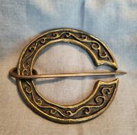 Antique Victorian Sash Pin Brooch Beautiful Buckle Design brass Scottish Celtic