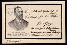 Germany 1897 used PPC Erfter General - Postmeiffer