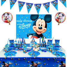 Mickey Mouse Boys Birthday Party Tableware Kids Decor Plates Tablecloth Balloons